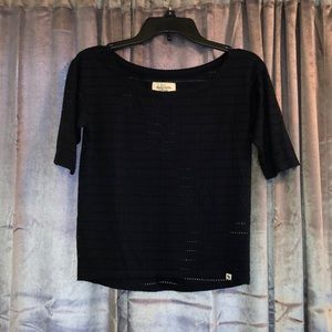 Abercrombie & Fitch XS navy blue top
